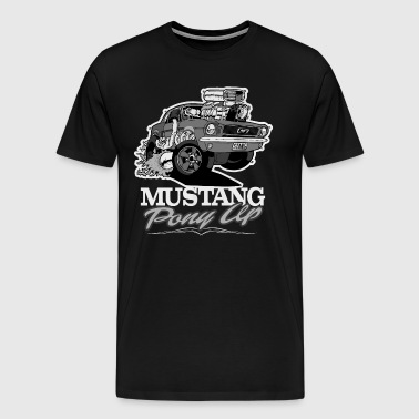 Ford T Shirt 66 Mustang Coupe Monochrome - Men's Premium T-Shirt