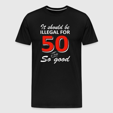 Funny 50th year old birthday designs - Men's Premium T-Shirt