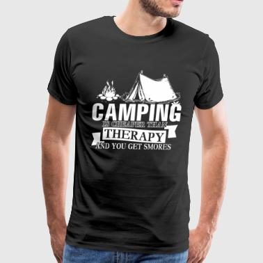 Camping Is Cheaper Than Therapy T Shirt - Men's Premium T-Shirt