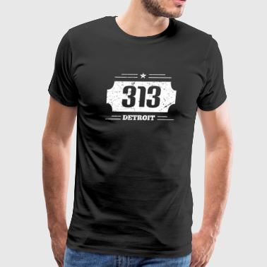 Detroit Michigan 313 Area Code - Streetlife - Men's Premium T-Shirt