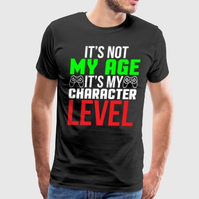 Character Level Funny Video Game T-shirt - Men's Premium T-Shirt