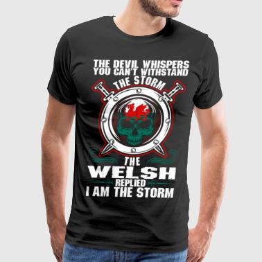 The Devil Whispers You Cant Withstand The Storm We - Men's Premium T-Shirt