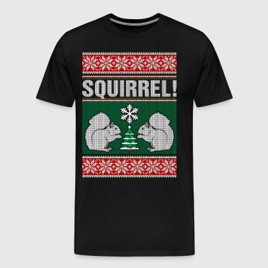 Squirrel Ugly Christmas Sweater - Men's Premium T-Shirt
