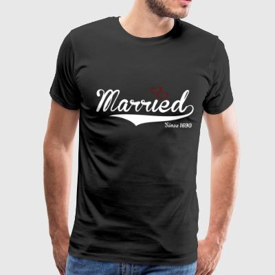 I'm married since 1960 vintage logo with hearts - Men's Premium T-Shirt