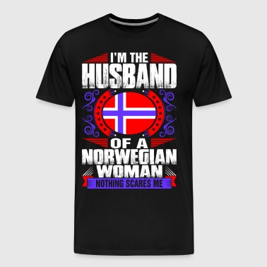 Im Norwegian Woman Husband - Men's Premium T-Shirt