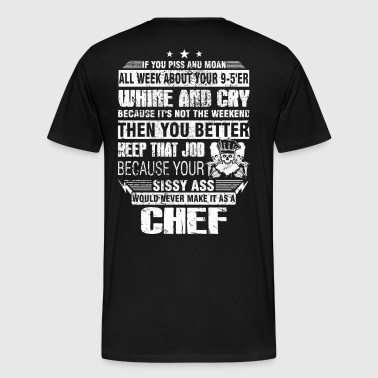 Chef pastry chef design cool chef curry Chef's H - Men's Premium T-Shirt