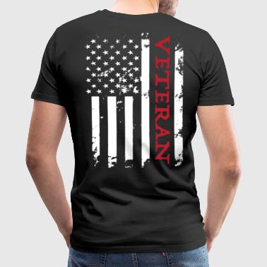 American Veteran Soldier Flag. - Men's Premium T-Shirt
