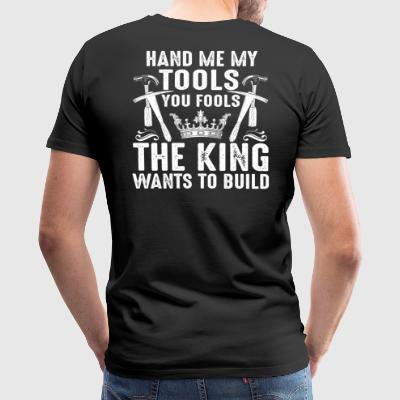 Roofer/Thatcher/Slater/Tiler/King/Gift/Present - Men's Premium T-Shirt