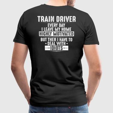 Train Driver - Locomotive Engineer - Gift/Present - Men's Premium T-Shirt