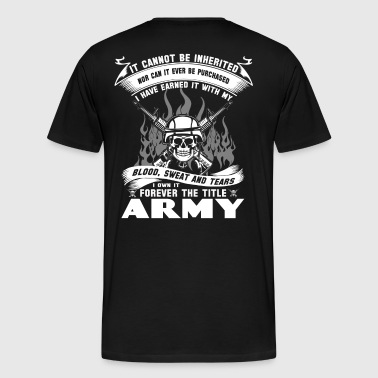 army vagina army red ribbon army army tank army  - Men's Premium T-Shirt