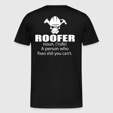 Roofer roofer  roofers roofers coffee shop - Men's Premium T-Shirt