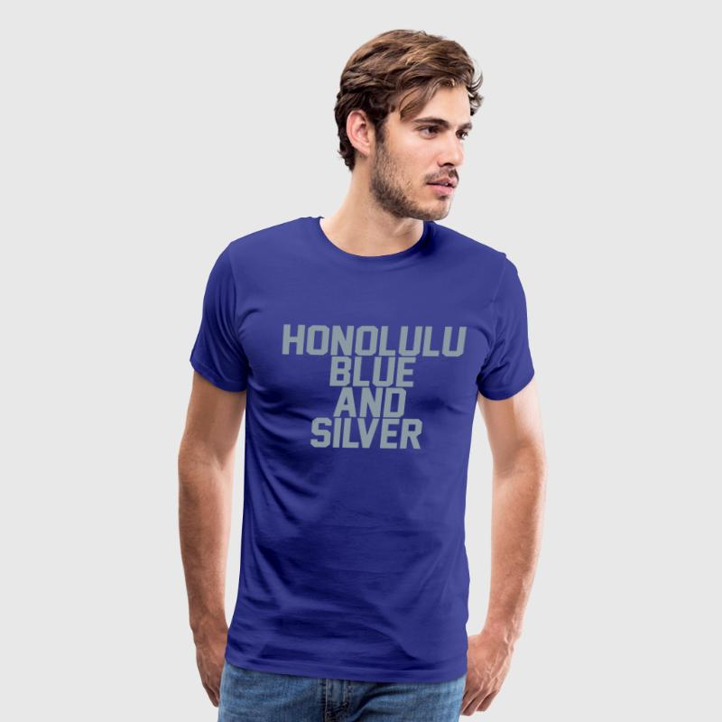 Honolulu Blue & Silver - Men's Premium T-Shirt