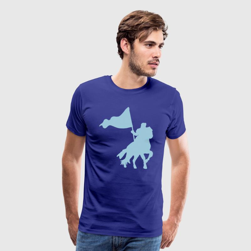 MEDIEVAL FESTIVAL knight on a horse with a flag  - Men's Premium T-Shirt