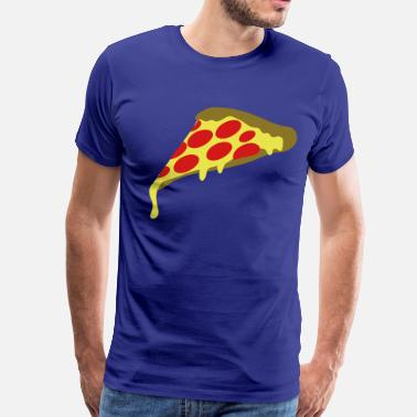 Fat Ninja pepperoni pizza slice - Men's Premium T-Shirt