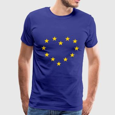 Europe Heart / Europe Cœur - Men's Premium T-Shirt