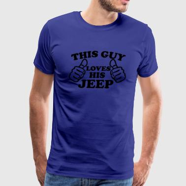 This Guy Loves His Jeep - Men's Premium T-Shirt
