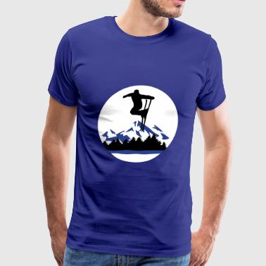 Ski and Mountains, skiing - Men's Premium T-Shirt