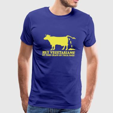 Hey vegetarians! - Men's Premium T-Shirt