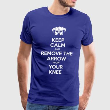 Keep Calm Remove Arrow - Men's Premium T-Shirt