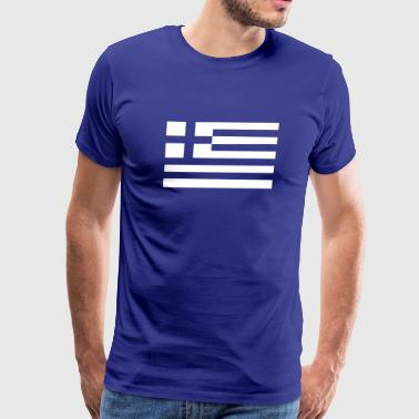 greek greece flag wedding - Men's Premium T-Shirt