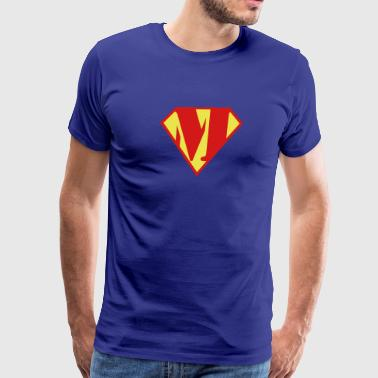 Super Muscle Man Body Builder - M - Men's Premium T-Shirt