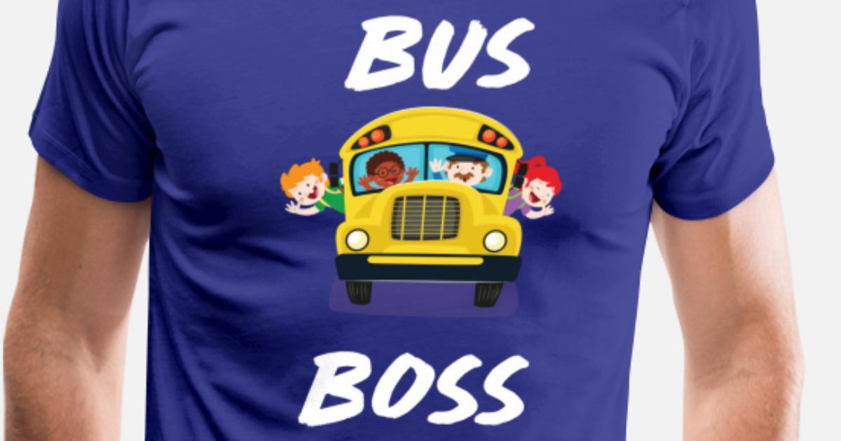 6705e211 Bus Boss School Bus Driver Monitor T-Shirt Men's Premium T-Shirt    Spreadshirt