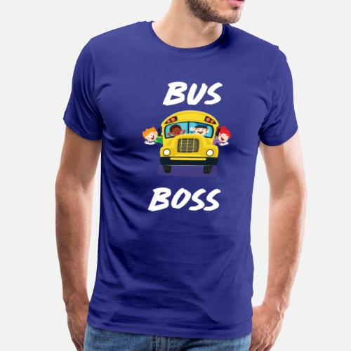 c8a86f4d Men's Premium T-ShirtBus Boss School Bus Driver Monitor T-Shirt.  TheWrightSales