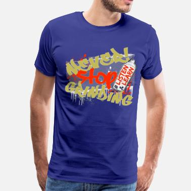 Never Stop The Music Navy Never Stop Grinding - Men's Premium T-Shirt