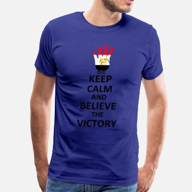 Rabia Symbol Keep Calm Belive the Victory - Men's Premium T-Shirt