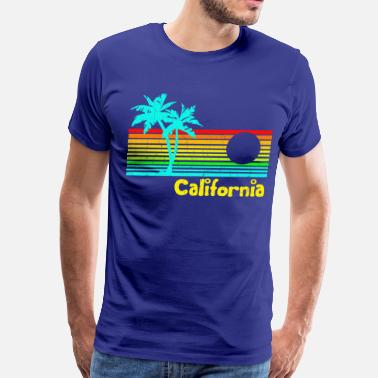 Vintage California 1980s Vintage Retro California - Men's Premium T-Shirt
