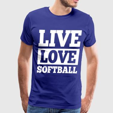 Live Love Softball - Men's Premium T-Shirt