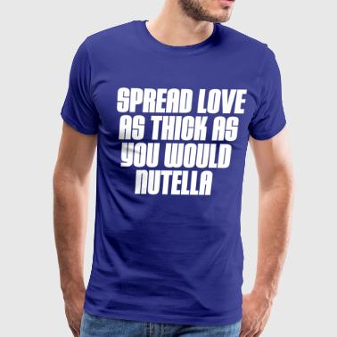 SPREAD-LOVE-WHT - Men's Premium T-Shirt