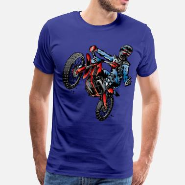 Stunt Bike Motocross Dirt Bike Stunt Rider - Men's Premium T-Shirt