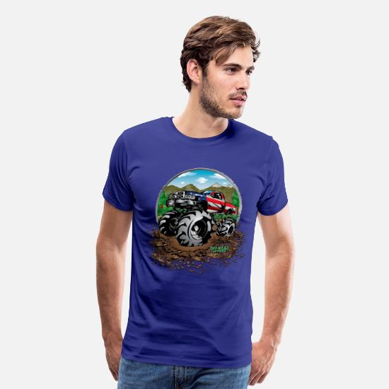 Design T-Shirts - Mud Truck USA - Men's Premium T-Shirt royal blue
