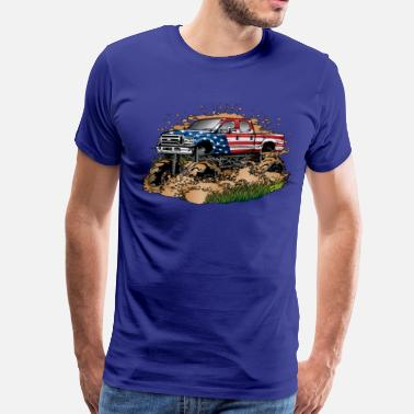 Offroad Vehicles Mega Mud Truck USA - Men's Premium T-Shirt