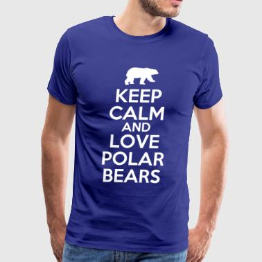 Polar keep_calm_and_love_polar_bears - Men's Premium T-Shirt