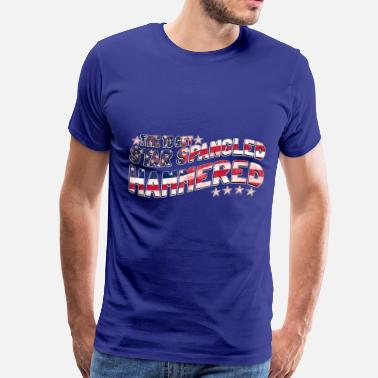 Banner Time to Get Star Spangled Hammered  - Men's Premium T-Shirt