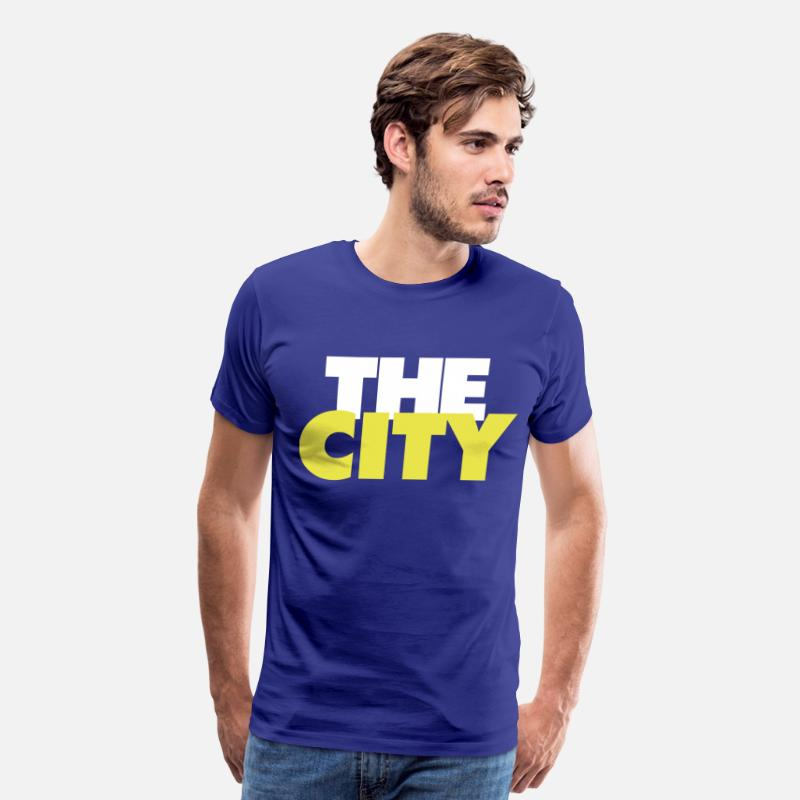 Basketball T-Shirts - The City - Men's Premium T-Shirt royal blue