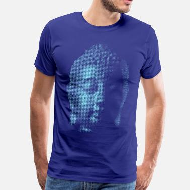 Buddha Head Big Blue Buddha - Men's Premium T-Shirt