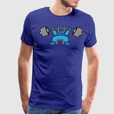 Kawaii Bench Press - Blue - Men's Premium T-Shirt