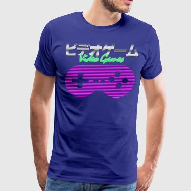 Synthwave Gaming - Men's Premium T-Shirt