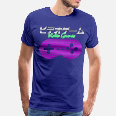 Synthwave Synthwave Gaming - Men's Premium T-Shirt