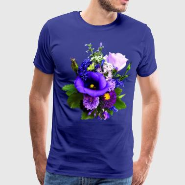 Purple Bouquet With Lilies And Delphinium - Men's Premium T-Shirt