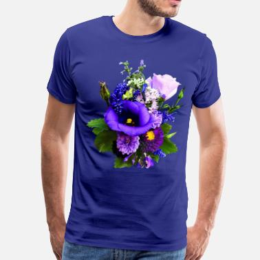 Lilies Purple Bouquet With Lilies And Delphinium - Men's Premium T-Shirt