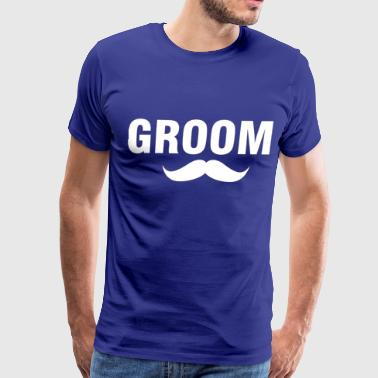 Groom-1-White - Men's Premium T-Shirt