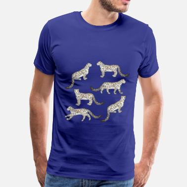 Snow Snow Leopard - Men's Premium T-Shirt