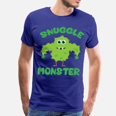 Snuggle Snuggle Monster (Green) - Men's Premium T-Shirt