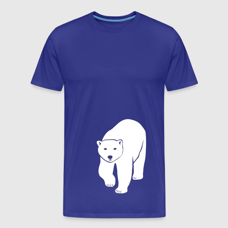 polar bear ice black white penguin knut climate change stop global warming - Men's Premium T-Shirt