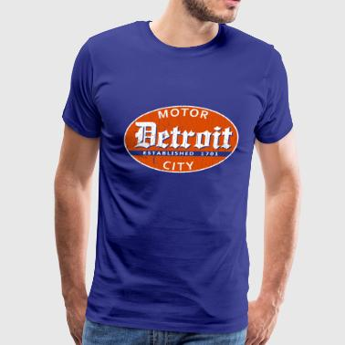 Vintage Detroit (distressed design) - Men's Premium T-Shirt