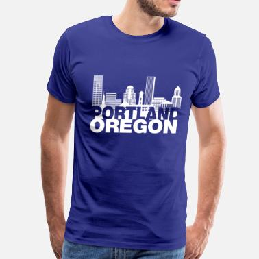 Portland portland_oregon_skyline - Men's Premium T-Shirt